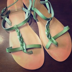 Mossimo Green strapped sandals